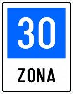 Zonă cu viteza recomandată 30 km/h