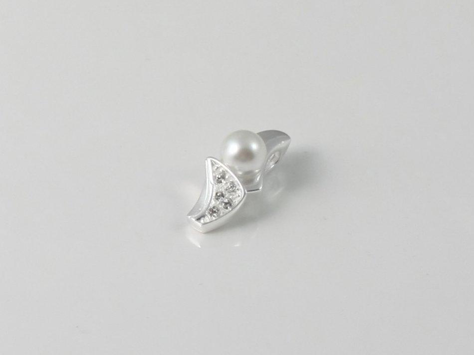 Pandantiv cu perla sintetica si cristale swarovski 175-PA