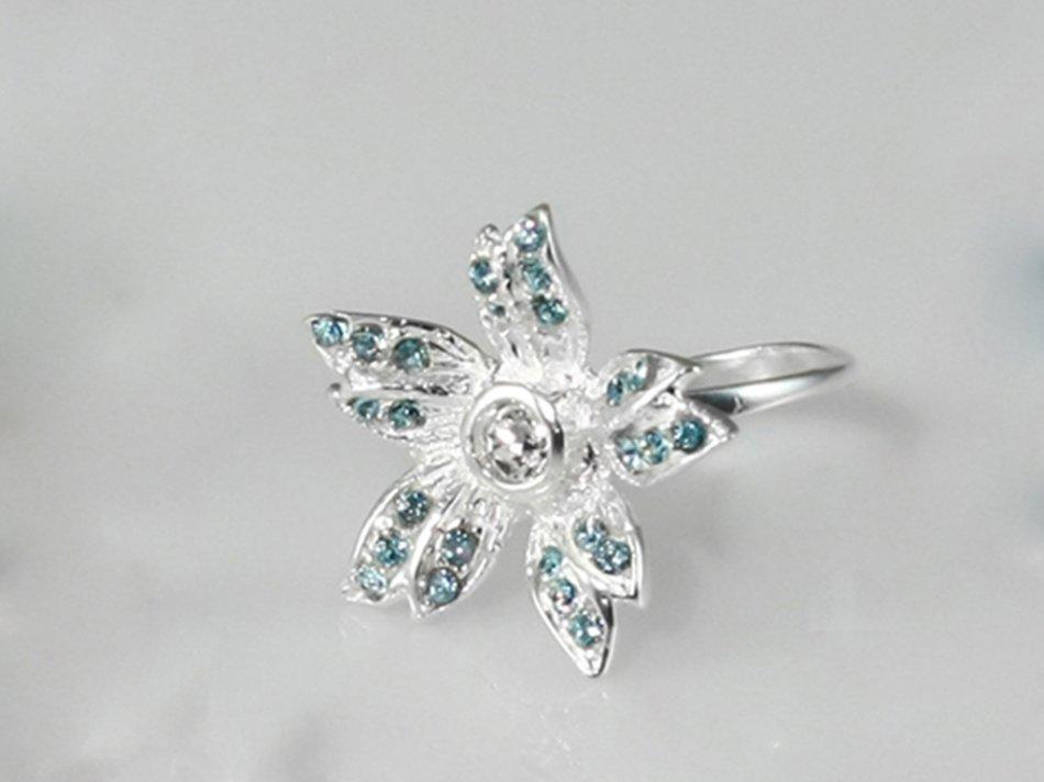 Inel cristale swarovski albastre 234-IN