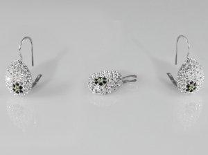 Set pandantiv si cercei cristale swarovski 382-SE