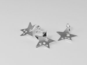 Set pandantiv si cercei cu cristale swarovski 387-SE