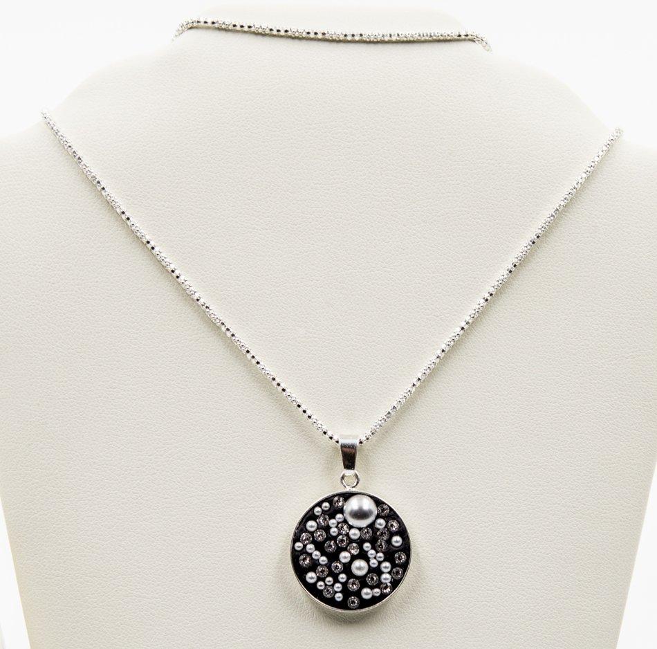 Lant si pandantiv argint 925 cu swarovski  ; 2697-L