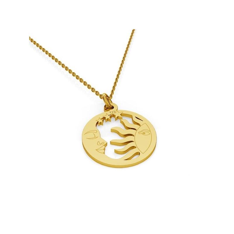 Lantisor cu pandantiv argint 925 placat cu aur; 2725-L