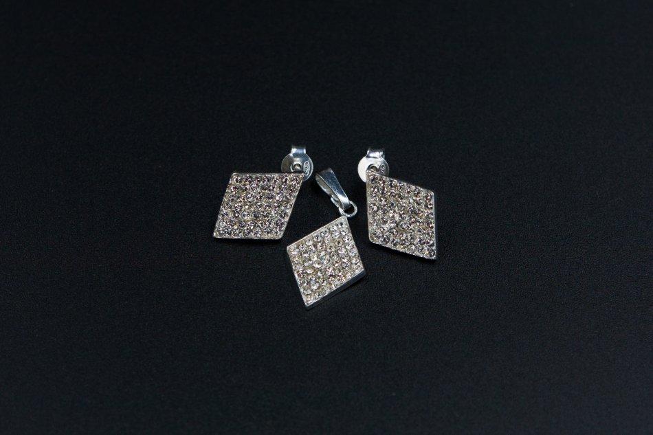 Set  cercei si pandantiv  cristale swarovski 1315-S