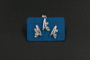 Set  argint cercei si pandantiv 1299-S