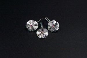 Set  cercei si pandantiv cristale swarovski 1317-S