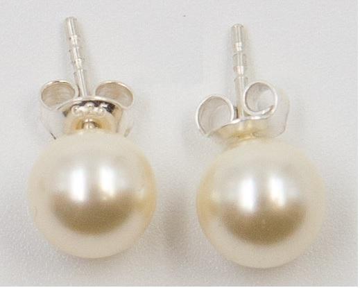 Cercei argint 925 cu perle swarovski de 8mm ; 2367-C