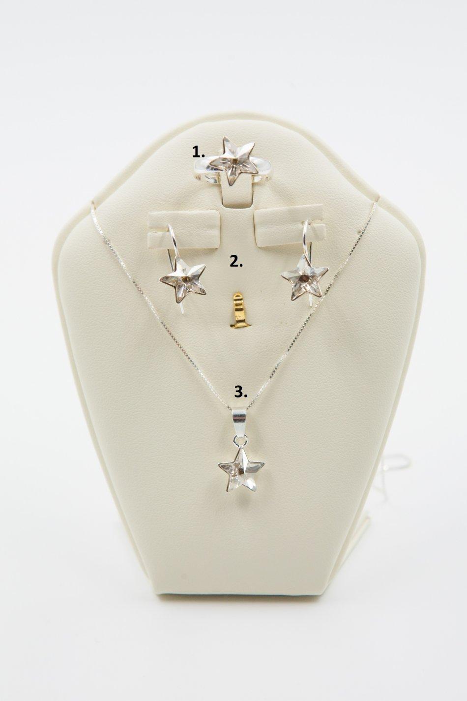 Set inel , cercei si lant cu pandant din argint 925 ; 2439-S