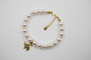 Bratara argint 925 placat cu aur si perle swarovski ; 2591-B