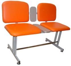 Bancheta pentru sala de asteptare cu 2 locuri