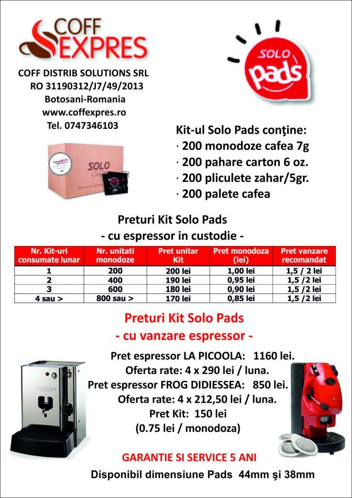 Cafea pad (cialde) Solo