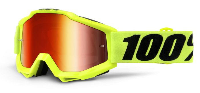 Ochelari 100% Accuri JR Fluo Yellow  Mirror Red Lens