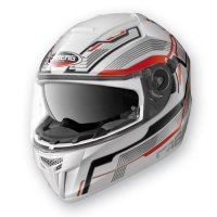 Casca Integrala Caberg Ego Streamline  White/Red  (Pin-Lock)
