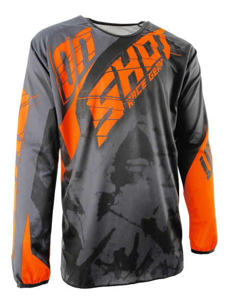 TRICOU SHOT MX/DEVO SQUAD GREY-NEON ORANGE