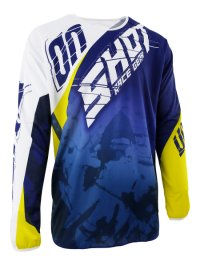 TRICOU SHOT MX/DEVO SQUAD BLUE-YELLOW