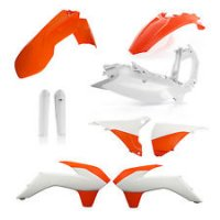 Kit complet plastice KTM 14-16 Acerbis White/Orange