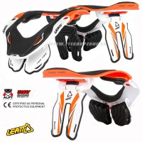 Neckbrace Leatt GPX 5.5 White-Orange L-XL