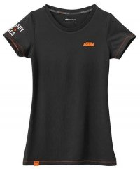 KTM GIRLS RACING TEE BLACK