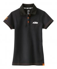 TRICOU KTM GIRLS RACING POLO BLACK