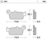 Moto-Master placute frana spate Honda CR80 / 85, CR125 / 250/500 <2001 XR250 / 400/600/650, KAWASAKI: REAR KX125 / 250> 1995