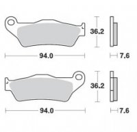 Placute  Frana Moto-Master Fata   METAL SOFT: KTM 22: 125-200-250-300-350-360-380-440-500, ALL SX E