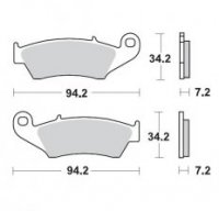 Placute Frana Moto-Master METAL SOFT 22 HONDA CR 125-250-500, CRF 450, XR 400-600-650R