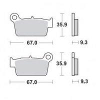 Placute Frana spate  YAMAHA : YZ (F) 125/250/450 2003> KAWASAKI spate: KXF250 / 450 2004> KXE450F 2010>