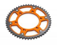 Foaie Lant KTM Aluminiu/Otel SuperSupersprox 52 Dinti Orange