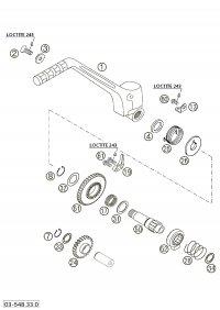 Arc Pedala Pornire KTM  EXC/SX 250/300/380