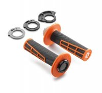 Mansoane KTM Lock-On Grip Set Orange/Black