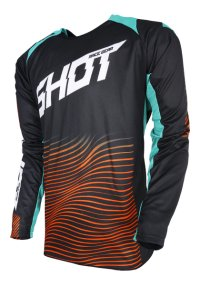 TRICOU SHOT MX/AEROLITE OPTICA MINT/ORANGE 2018