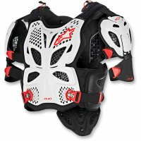 ARMURA ALPINESTAR (MX) A-10 FULL CHEST PROTECTOR WHITE/BLACK