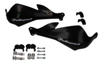 SET HANDGUARD POLISPORT  MODEL SHARP with universal mounting kit 22 / 28MM BLACK