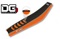 Husa Sa Blackbird Ktm  Sx-Sxf 98-06, Exc 98-07, 3 Double grip, Negru/Orange