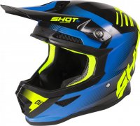 Casca Shot 2020 Furious Trust Black/Blue/Neon/Yellow Glossy