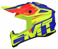 Casca MT Falcon Weston Yellow fluo/Blue/Red