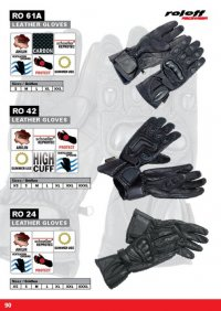 Manusi de Piele Roleff Ro24 Black