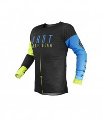 Tricou Shot 2020 Aerolite Alpha Blue Neon Yellow