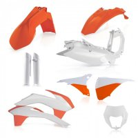 Kit Plastice Acerbis KTM 14-15 Orange/White