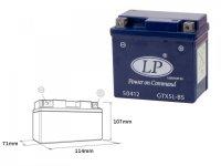 Baterie Gel LandPort GTX5 (YTX5) - 4,5 AH