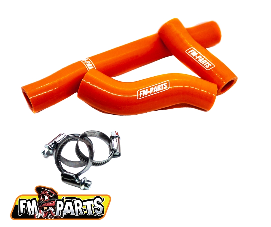 Fm-Parts Silicone Radiator Hose Kit KTM / Husqvarna 250/300 2020-2021 Orange