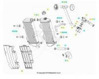 Radiator Beta 250/300 RR 2020-2021 Stanga OEM