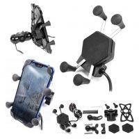 Biketec  Suport Telefon Moto cu Incarcator Usb si Montaj Pe Ghidon sau Oglinda L