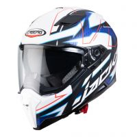 Casca Caberg (2020) Casca integrala Model JACKAL TECHNO Mat WHITE / BLUE / RED FLUO Culoare Mat  WHITE / BLUE / RED FLUO