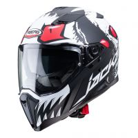 Casca Caberg (2020/2021) Casca  Integrala Model JACKAL DARKSIDE MATT BLACK / WHITE / RED FLUO Culoare  BLACK MAT / WHITE / RED FLUO