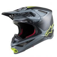 Casca Alpinestars Supertech M10 Meta MX Helmet Black/Gray/Yellow