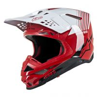 Casca Alpinestars Supertech M10 Dyno MX Helmet Red/White