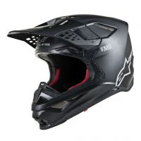 Casca Alpinestars Supertech M8 Solid MX Helmet Black