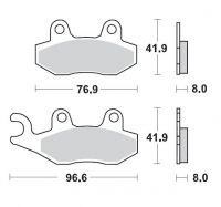 Placute Frana Moto-Master Kawasaki Kx 125/250/500,Kdx 200/250, SUZUKI RM 125/250