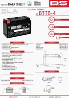 Baterie Bs Battery Activata BT7B-4  (YT7B4) 12V 6.5AH 148X64X90 Fara Intretinere